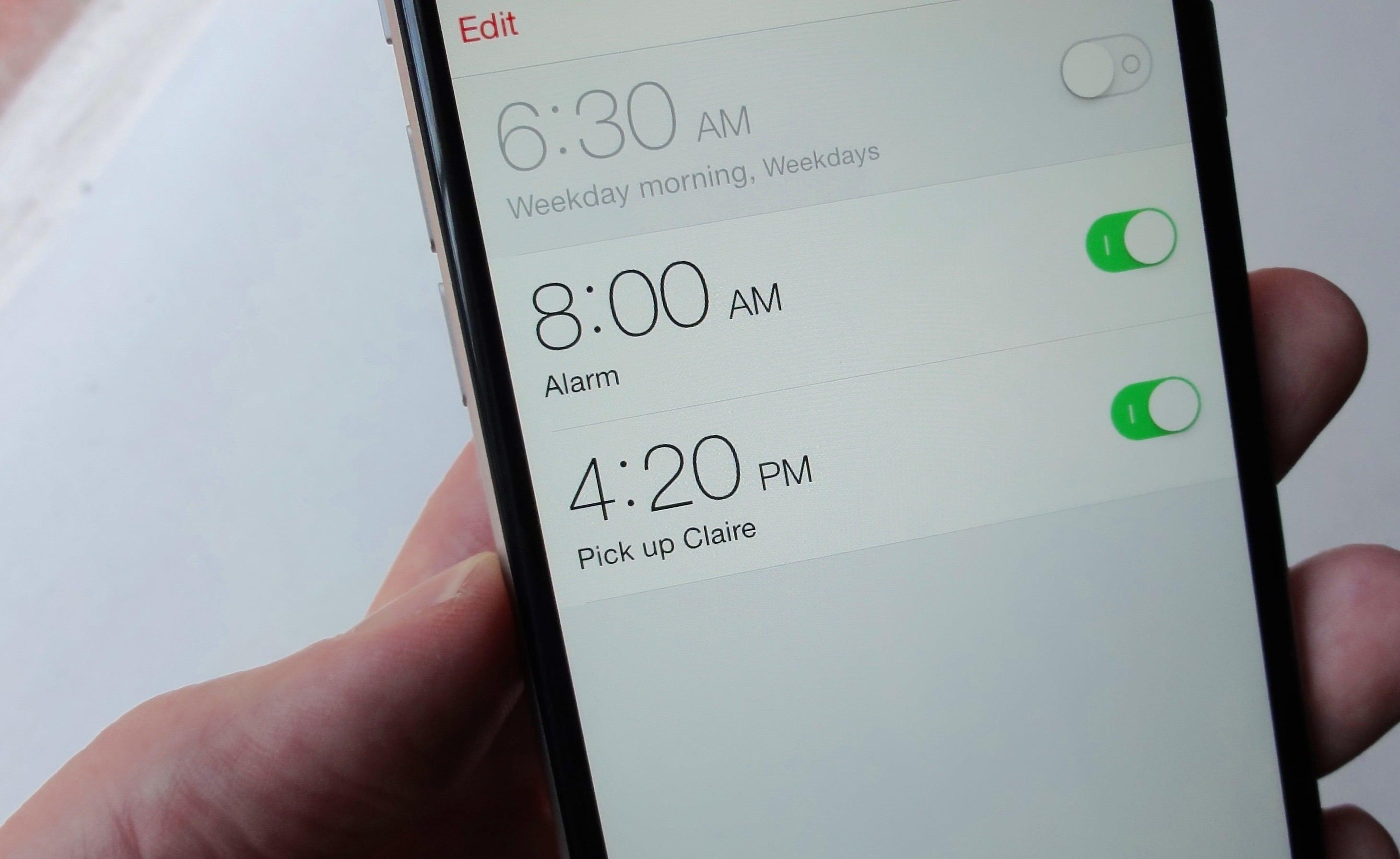Alarme Siri