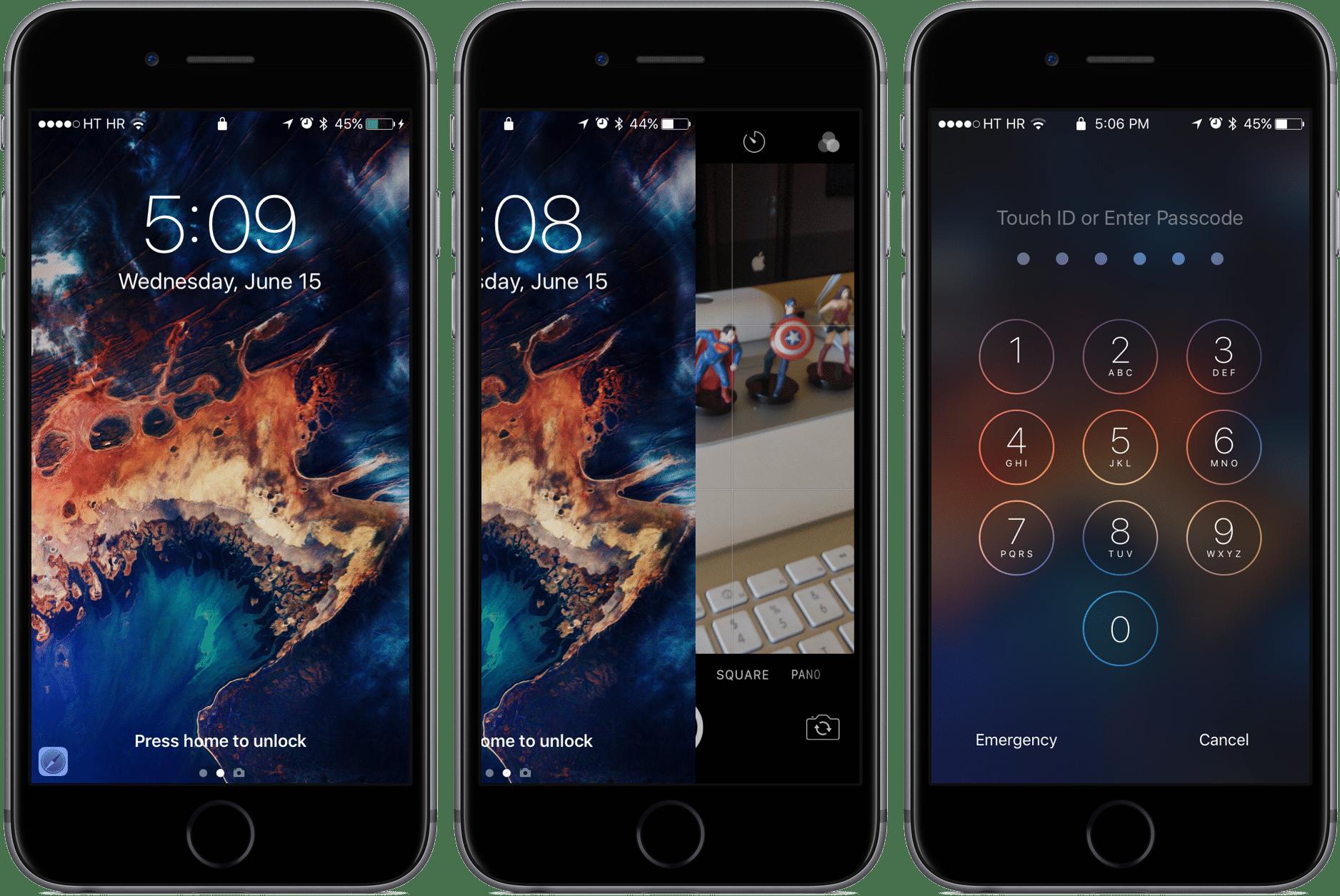 Ecran de verrrouillage iOS 10