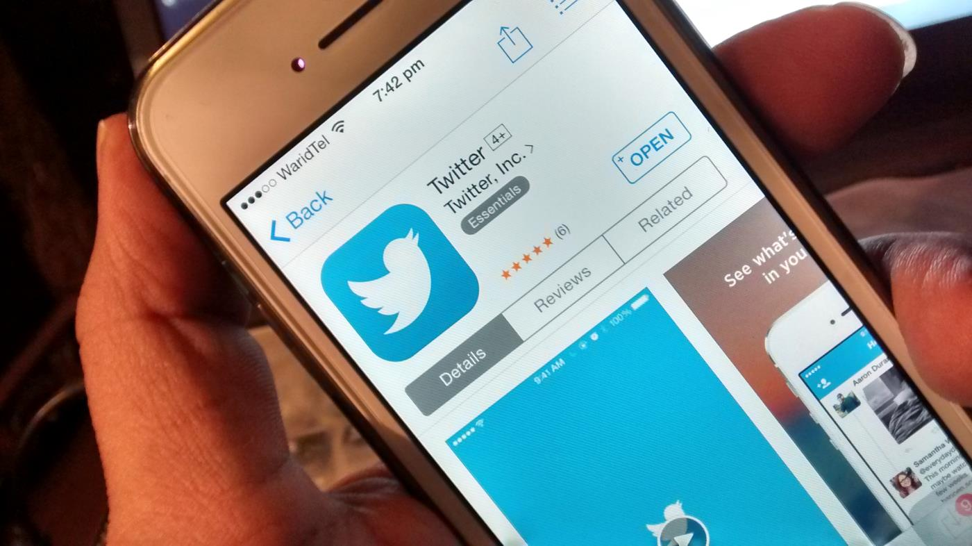 Twitter sur iPhone
