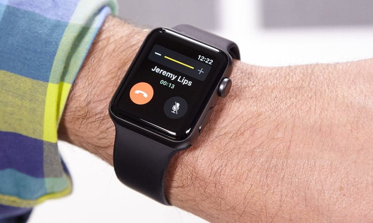 Appel avec Apple Watch
