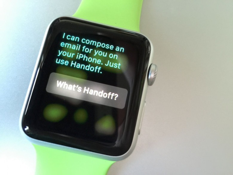 Handoff Apple Watch