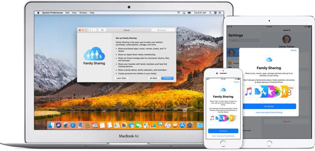 Partage familial sur iPhone et iTunes