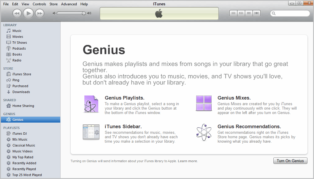 Playlist Genius iTunes