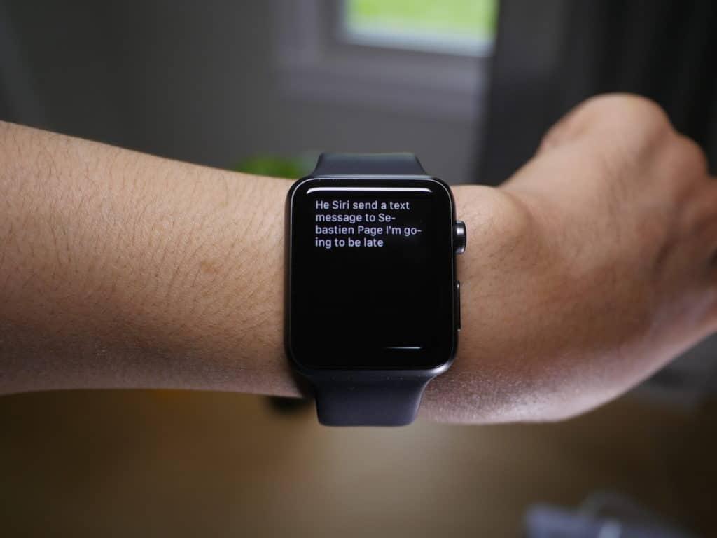 Siri sur Apple Watch