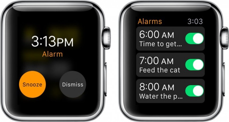 alarme Apple Watch