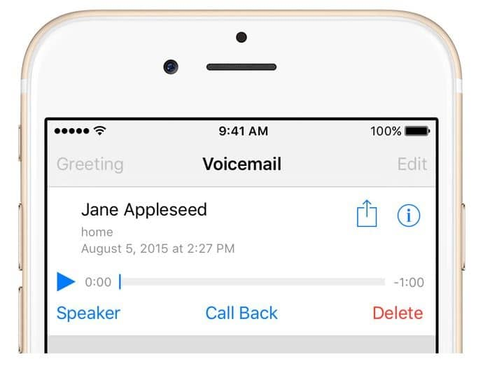 message vocal sur iPhone