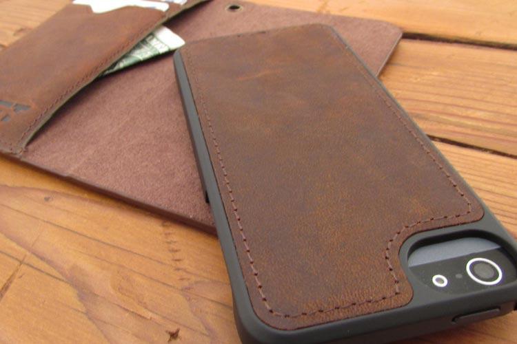 étui en cuir pour iPhone 7