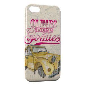 Coque iPhone 5/5S/SE 2 CV Vintage Yellow