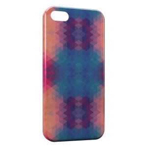 Coque iPhone 5/5S/SE 3D Blue & Orange Colors