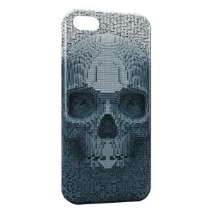 Coque iPhone 5/5S/SE 3D Tete de mort