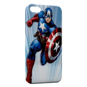 Coque iPhone 5/5S/SE Advenger Captain America USA