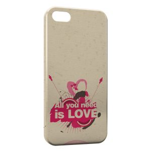 Coque iPhone 5/5S/SE All you need is LOVE Art