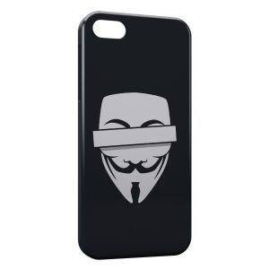 Coque iPhone 5/5S/SE Anonymous Logo