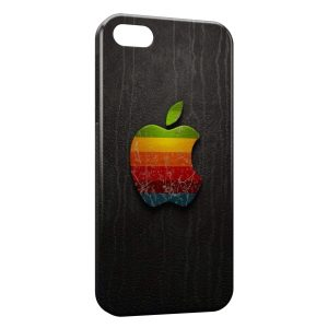 Coque iPhone 5/5S/SE Apple Logo Multicolor