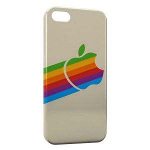 Coque iPhone 5/5S/SE Apple Rainbow