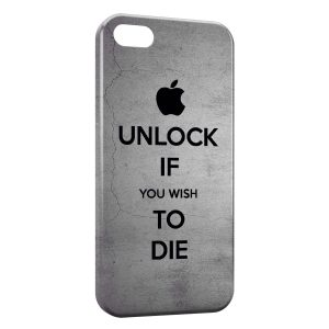 Coque iPhone 5/5S/SE Apple Unlock If You Wish To Die