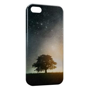 Coque iPhone 5/5S/SE Arbre & Galaxy