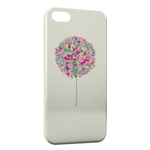 Coque iPhone 5/5S/SE Arbre multicolor paint