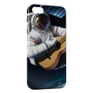 Coque iPhone 5/5S/SE Astronaute & Guitare