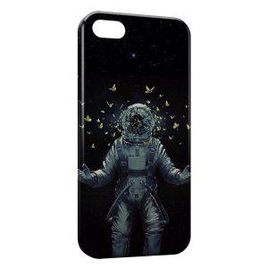 Coque iPhone 5/5S/SE Astronaute et Papillons