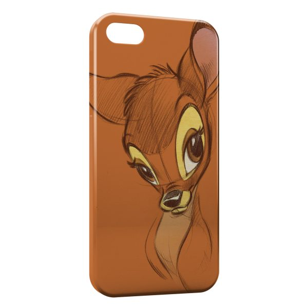 Coque iPhone 55SSE Bambi Dessin Art 600x600