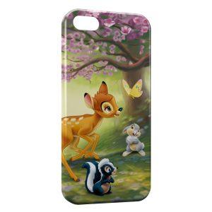 Coque iPhone 5/5S/SE Bambi Panpan Fleur Papillon