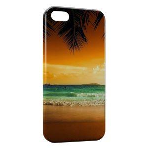Coque iPhone 5/5S/SE Beach & Palmiers