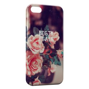 Coque iPhone 5/5S/SE Begin Again Roses