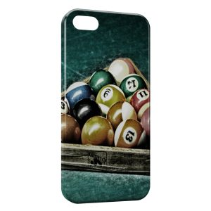 Coque iPhone 5/5S/SE Billard Pro Vintage