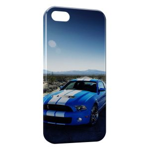 Coque iPhone 5/5S/SE Blue Mustang Voiture