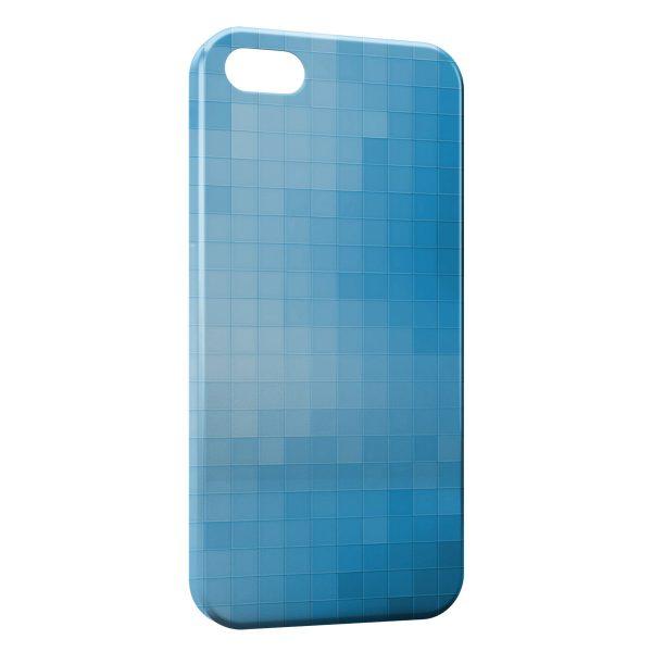 Coque iPhone 5/5S/SE Blue Pixels
