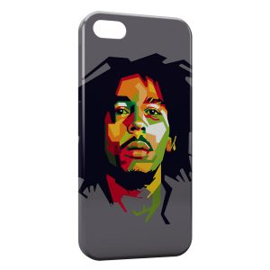 Coque iPhone 5/5S/SE Bob Marley Graphic Art 2