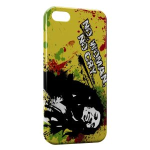 Coque iPhone 5/5S/SE Bob Marley No Woman No Cry