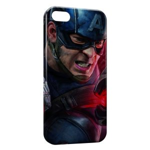 Coque iPhone 5/5S/SE Captain America Art Graphic 4
