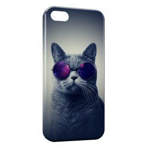 Coque iPhone 5/5S/SE Cat Sun Glasses