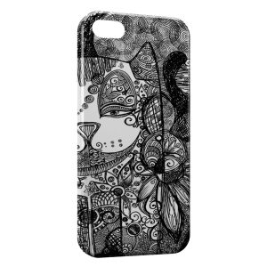 Coque iPhone 5/5S/SE Chat au Crayon
