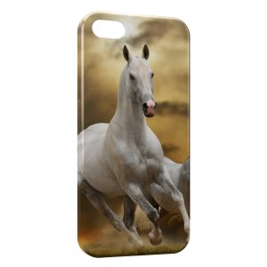 Coque iPhone 5/5S/SE Cheval 6 White
