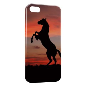 Coque iPhone 5/5S/SE Cheval Cabré 2 Sunset