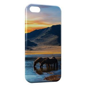 Coque iPhone 5/5S/SE Cheval Chevaux Water