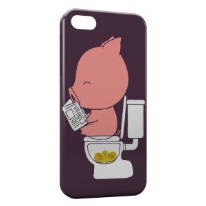 Coque iPhone 5/5S/SE Cochon Toilettes