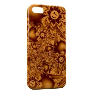Coque iPhone 5/5S/SE Colorful Smileys Flowers