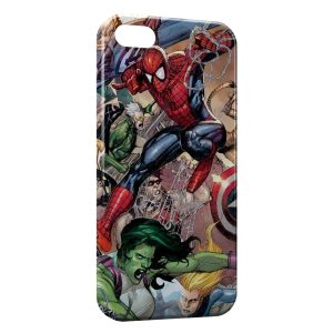 Coque iPhone 5/5S/SE Comics Spiderman