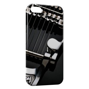 Coque iPhone 5/5S/SE Cordes Guitare Black & White