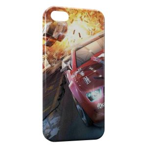 Coque iPhone 5/5S/SE Crash Voitures Cars Course