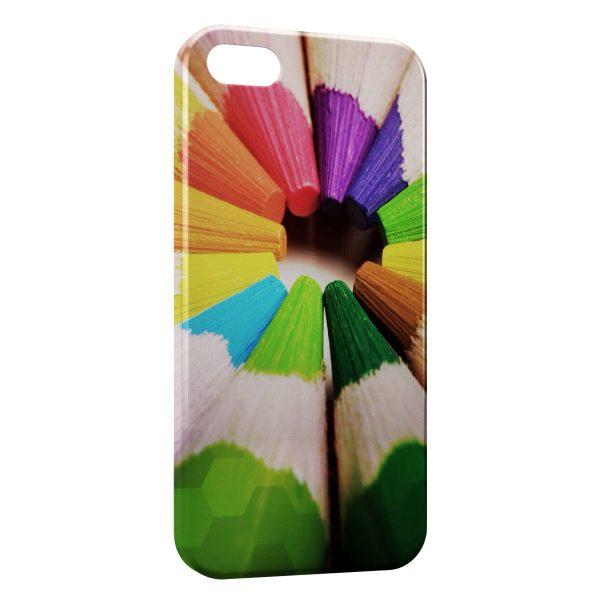 Coque iPhone 5/5S/SE Crayon de Couleur