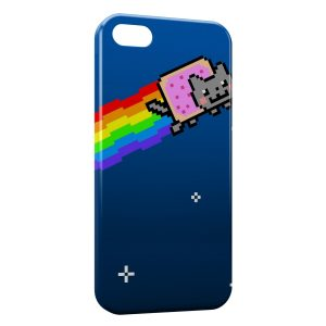 Coque iPhone 5/5S/SE Crazy Cat Web