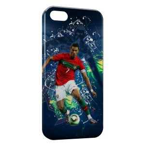 Coque iPhone 5/5S/SE Cristiano Ronaldo Football 42