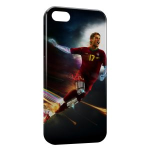 Coque iPhone 5/5S/SE Cristiano Ronaldo Football Bionic Art