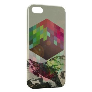 Coque iPhone 5/5S/SE Cube volant