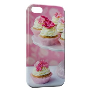 Coque iPhone 5/5S/SE CupCake Design Pink